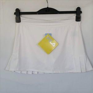 FILA Girls Skirt Skort Large White Ruffled